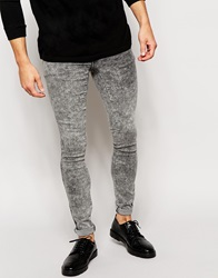 Dr. Denim Dr Denim Jeans Kissy Low Spray On Extreme Super Skinny Grey Acid Wash