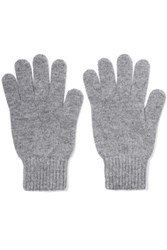 Johnstons Of Elgin Cashmere Gloves Gray