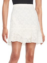 See By Chloe Floral A Line Lace Skirt Off White