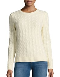 Lord And Taylor Petite Cable Knit Cashmere Sweater Sunbeam