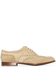 Church's Brown Burwood Flat Suede Loafers 60