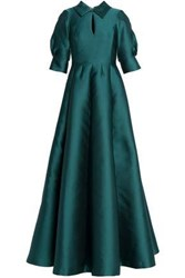 Merchant Archive Flared Faille Gown Emerald