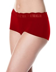 Rafaella Basics With Lace Band Boyshort Chili Pepper