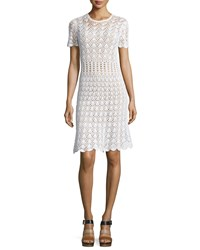 Michael Michael Kors Short Sleeve Crocheted Sweater Dress Women's