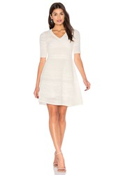 M Missoni 3 4 Sleeve Fit And Flare Dress Ivory
