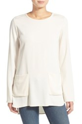 James Perse Double Pocket Tunic Top White