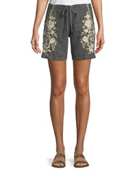 Johnny Was Briar Embroidered Linen Shorts Plus Size Voltage