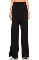 Michael Stars High Waisted Wide Leg Pant Black