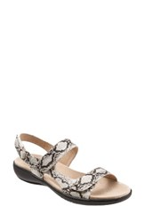 Trotters Women's 'Kip' Sandal Off White Print Leather