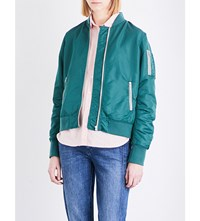 Closed Shine Shell Bomber Jacket Lorbeer Green