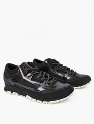 Lanvin Black Leather Running Sneakers