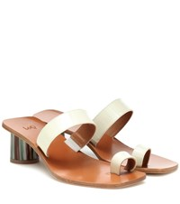 Loq Tere Patent Leather Sandals White