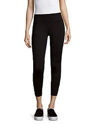 Betsey Johnson Criss Cross Mesh Leggings Black