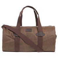 Barbour Defender Waxed Cotton Holdall Dark Sand