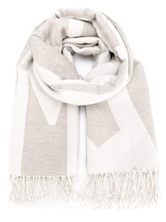 Humanoid Slogan Print Scarf Nude And Neutrals