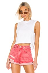Agolde Cropped Muscle Tee White