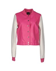 Twin Set Jeans Coats And Jackets Jackets Women Fuchsia