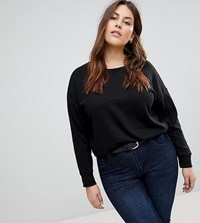 New Look Plus Curve Sweatshirt Black
