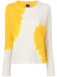 Suzusan Cashmere Two Tone Sweater Yellow