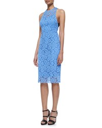 Nanette Lepore Sultry Lace Cocktail Dress Periwinkle Purple