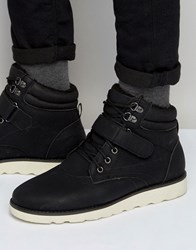 Brave Soul Lace Up Boots With Sherpa Lining Black Black