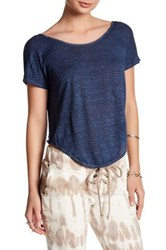 Young Fabulous And Broke Wing Linen Tee Blue