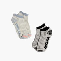 Madewell Two Pack Phys Ed Anklet Socks Parakeet Grey Multi