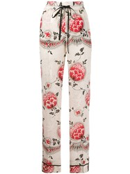 Red Valentino Floral Print Pyjama Style Trousers 60