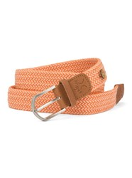 Faguo Coral And Off White Nylon Belt Pink