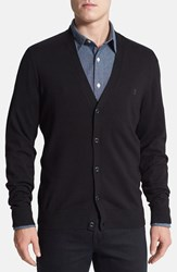 Men's Victorinox Swiss Army Slim Fit Stretch Cotton Cardigan Black