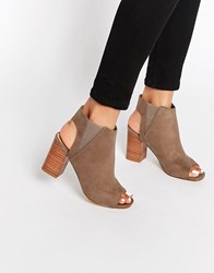 New Look Peep Toe Shoes Light Brown