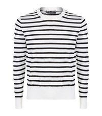 Dolce And Gabbana Striped Cashmere Sweater Male