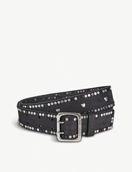 Zadig And Voltaire Starlight Studded Leather Belt Noir