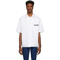 Moschino White Half Sleeve Logo Shirt