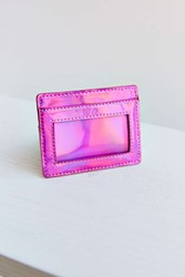Urban Outfitters Metallic Cardholder Pink