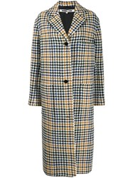 Mcq By Alexander Mcqueen Houndstooth Single Breasted Coat White
