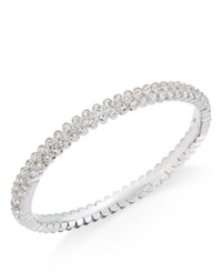 Danori Eliot Silver Tone Crystal Pave Bangle Bracelet Only At Macy's Clear