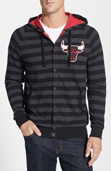 Men's Mitchell And Ness 'Chicago Bulls' Stripe Button Front Jersey Hoodie