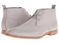 Calvin Klein Farnel Grey Washed Leather Men's Lace Up Boots Gray