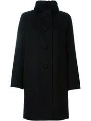 Ermanno Scervino Mink Fur Collar Coat Black