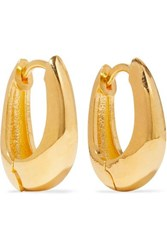 Sophie Buhai Gold Vermeil Hoop Earrings Silver