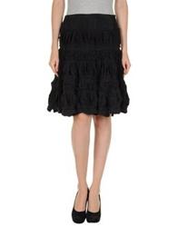 Roberta Furlanetto Knee Length Skirts Black