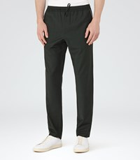 Reiss Mauvais Mens Drawstring Trousers In Green