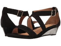 Sofft Innis Black King Suede Women's Wedge Shoes