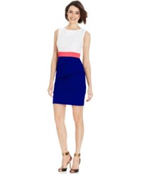 Connected Petite Sleeveless Tiered Colorblock Dress Lt Pas Org
