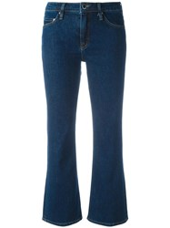 Victoria Beckham Flared Cropped Jeans Blue