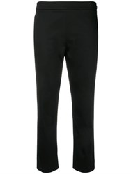 Moschino Cropped Tailored Trousers Black