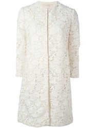 Giambattista Valli Embroidered Coat White