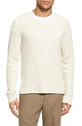Vince Men's Thermal Stitch Cotton Pullover