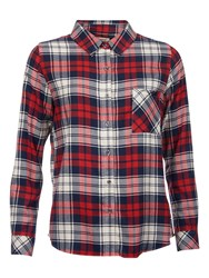 Barbour Tidewater Check Shirt Navy Check